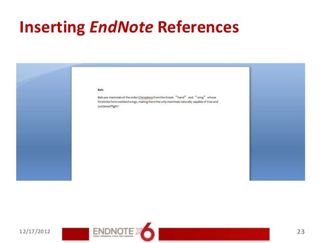 how to use end note with word