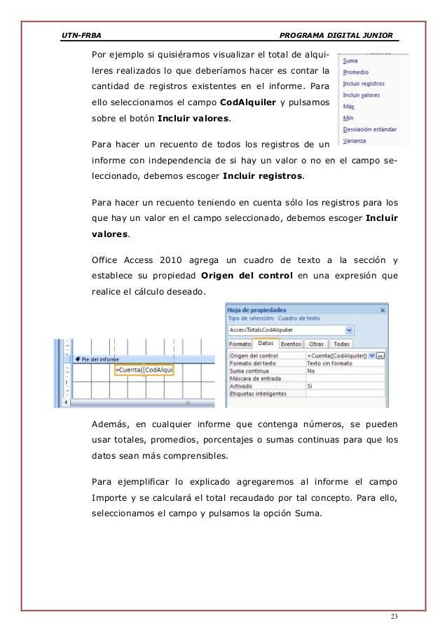 8 utn frba manual access 2010 informes