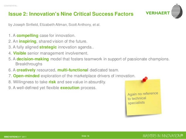 Why innovation is critical to success