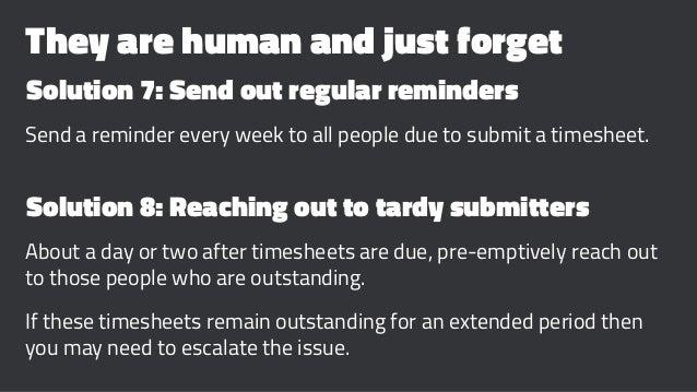 timesheet reminder