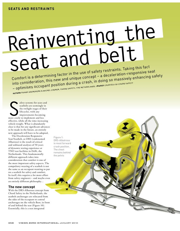 SE ATS AND RE STR AINTS     Reinventing the seat and  belt                                                                ...