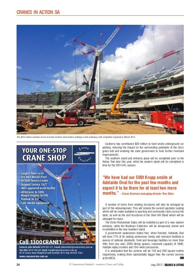 Cranes Lifting Article July 13