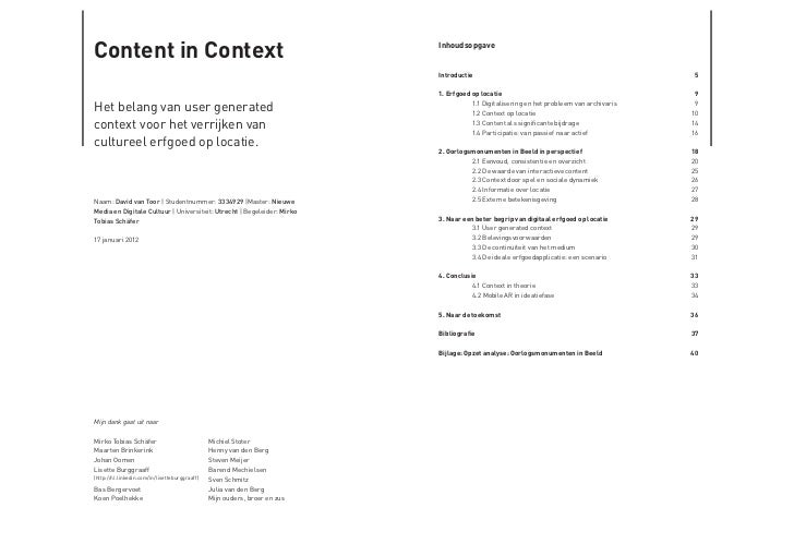 content in context Slide 2
