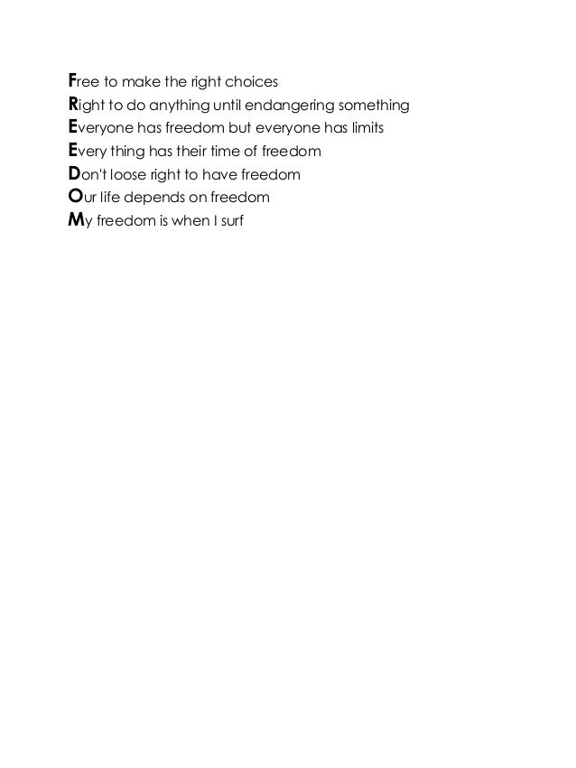 Poems About Freedom 3