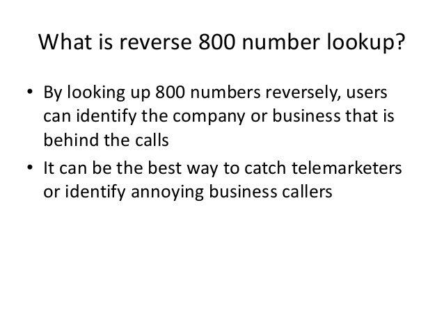 800 Reverse Phone Lookup