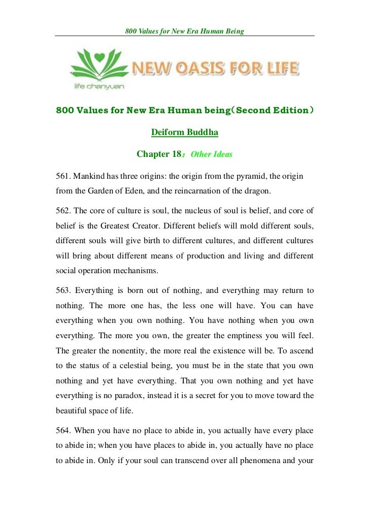 800 Values for New Era Human Being800 Values for New Era Human being                                 (Second Edition)     ...