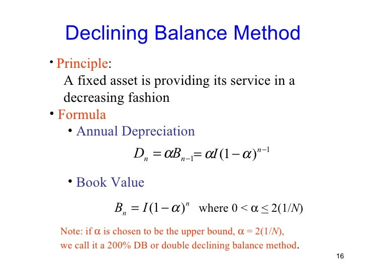 depreciation method In accountancy, depreciation refers to two aspects of the same concept: the  decrease in value  depreciation is a method of reallocating the cost of a  tangible asset over its useful life span of it being in motion  large amount of  decrease in fair value of an asset a change of manner in which the asset is used  accumulation.
