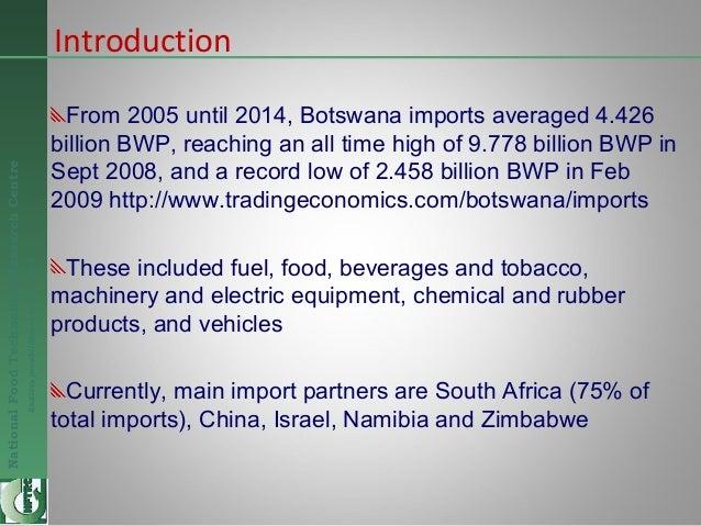 Business Opportunities in the Food Industry - Botswana - Dec 2014 Slide 2