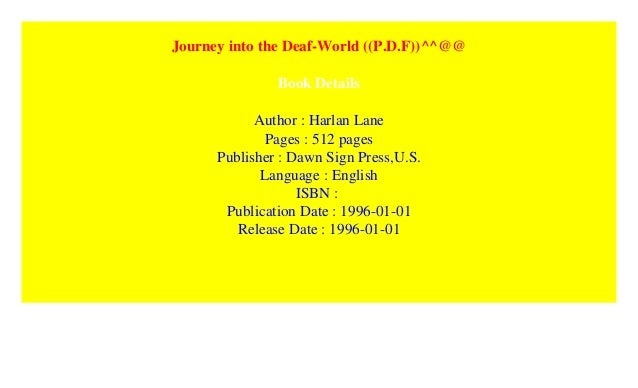 Journey Into The Deaf World P D F