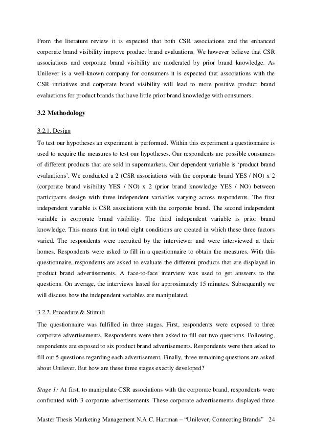 Master thesis e marketing