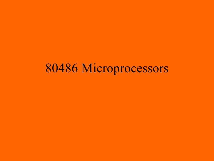 80486 Microprocessors