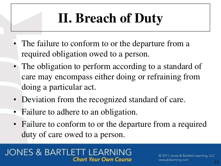 breach duty of care in nursing Malpractice is negligence, misconduct, or breach of duty by a professional person that results in injury or damage to a patient in most cases, it includes failure to meet a standard of care or failure to deliver care that a reasonably prudent nurse would deliver in a similar situation.