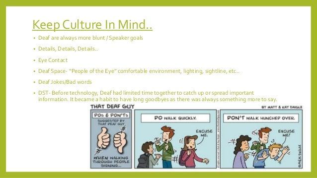 Interpersonal Communication Deaf Culture Presentation