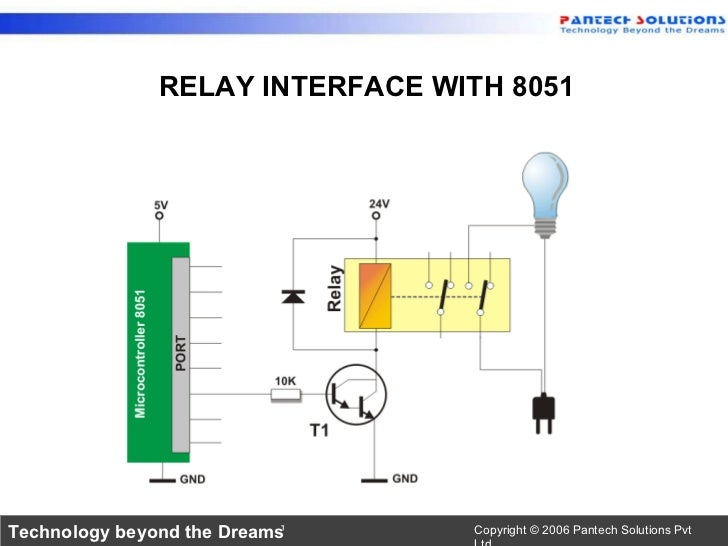 Interfacing relay with 8051 Slide 2