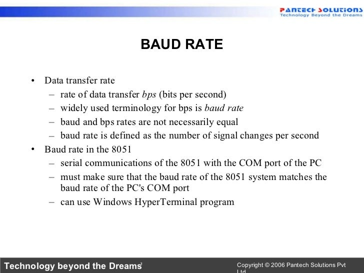 8051 serial communication uart - How to determine the baud rate of a serial port ...