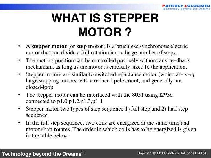 ... 2. <ul><li>A stepper motor ...