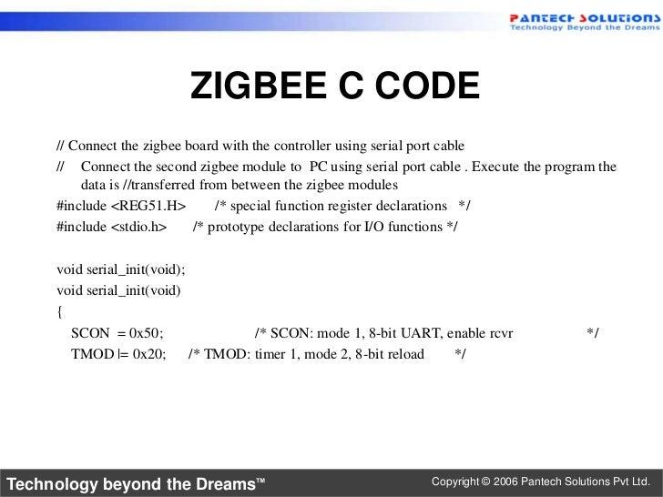 8051 zigbee interface