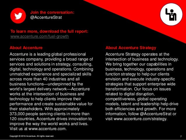 7Copyright © 2016 Accenture. All rights reserved. About Accenture Accenture is a leading global professional services comp...