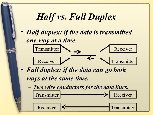 difference between half duplex and full duplex pdf