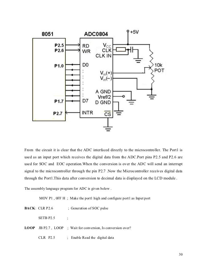 Adc0804 Interfacing With 8051 Microcontroller From Rikipedia