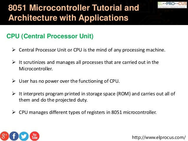 8051 microcontroller tutorial and architecture with for Architecture 8051 microcontroller