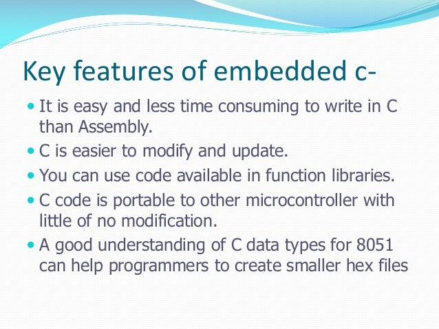 8051 programming skills using EMBEDDED C