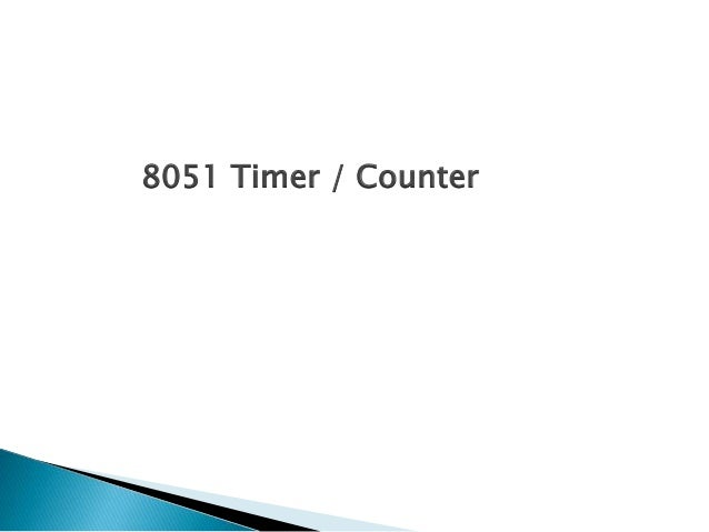 8051 Timer / Counter