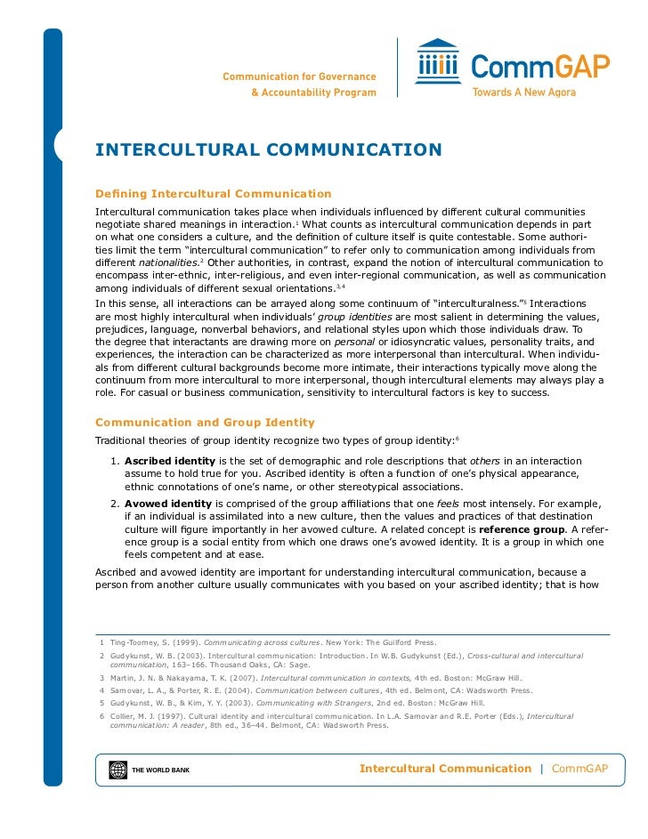 InterCultural CommunICatIonDefining Intercultural CommunicationIntercultural communication takes place when individuals in...