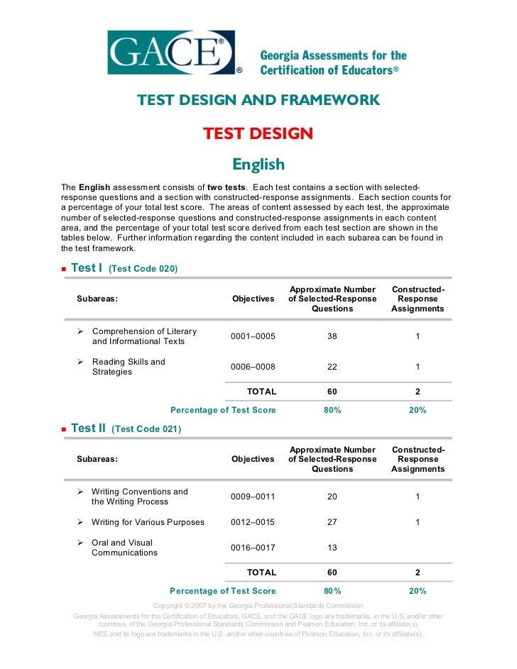 TEST DESIGN AND FRAMEWORK                                              TEST DESIGN                                        ...
