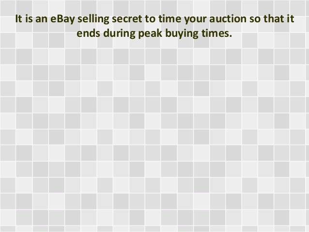 Ebay Selling Secrets Revealed