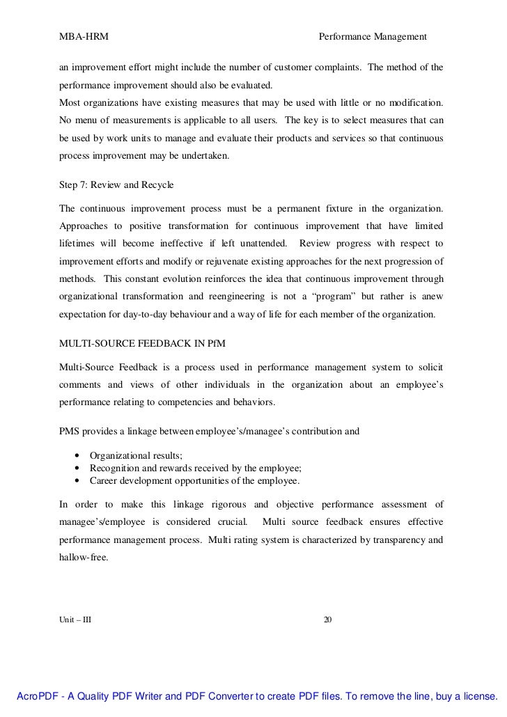 research proposal on performance management pdf