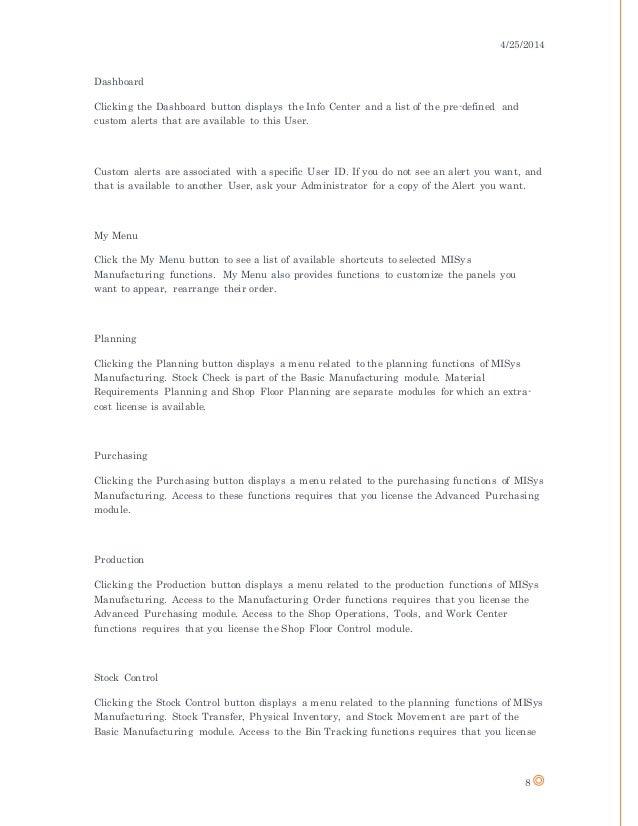 MiSys Documentation