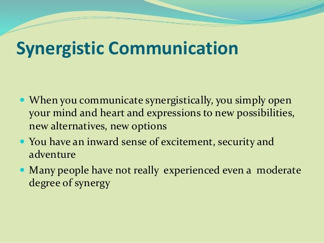 synergy in communication
