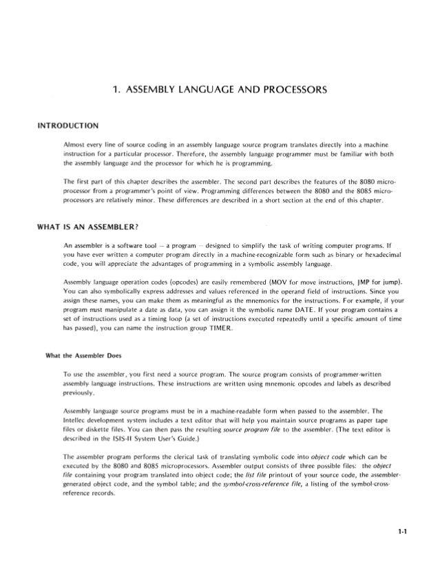 8080 8085 assembly language programming manual programando rh slideshare net assembly language lab manual assembler language manual