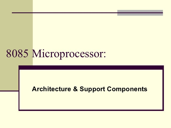 8085 architecture memory interfacing1 for Architecture 8085