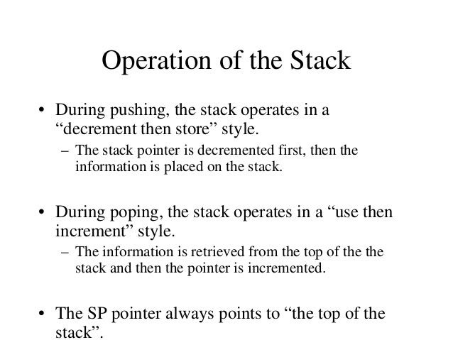 The CALL Instruction • CALL 4000H – Push the address of the instruction immediately following the CALL onto the stack 2000...