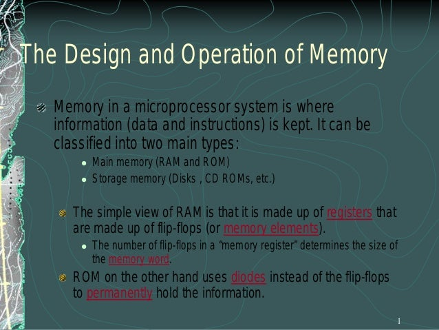 The Basic Memory Element The WR signal controls the input buffer. The bar over WR means that this is an active low signal....