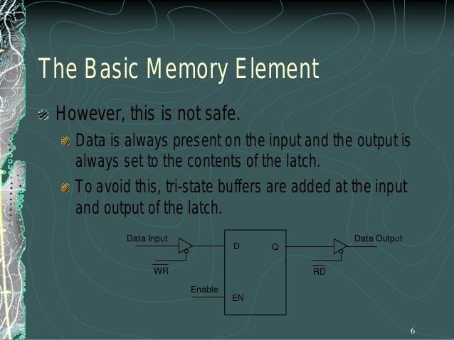 The Design of a Memory Chip Using the RD and WR controls we can determine the direction of flow either into or out of memo...