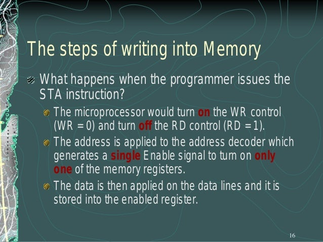 Memory Map and Addresses The memory map is a picture representation of the address range and shows where the different mem...