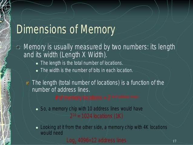 Address Range of a Memory Chip The address range of a particular chip is the list of all addresses that are mapped to the ...