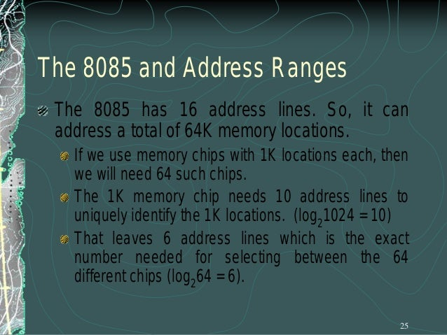 Data Lines All of the above discussion has been regarding memory length. Lets look at memory width. We said that the width...