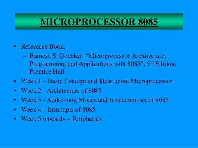Basic Concepts of Microprocessors • Differences between: – Microcomputer – a computer with a microprocessor as its CPU. In...