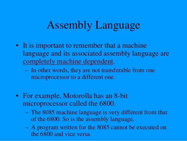 """""""Assembling"""" The Program • How does assembly language get translated into machine language? – There are two ways: – 1st th..."""