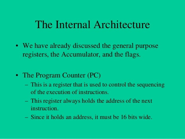 Non Programmable Registers • Instruction Register & Decoder – Instruction is stored in IR after fetched by processor – Dec...