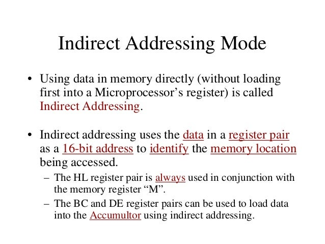 Arithmetic Operations – Increment (INR) and Decrement (DCR): • The 8-bit contents of any memory location or any register c...