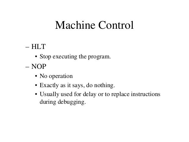 Instruction with Immediate Date • Operation: Load an 8-bit number into the accumulator. – MVI  A, 32  • Operation: MVI A •...