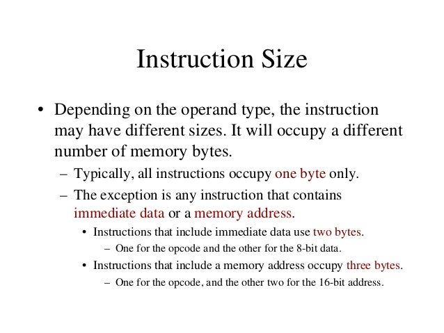 """Addressing Modes • The microprocessor has different ways of specifying the data for the instruction. These are called """"add..."""