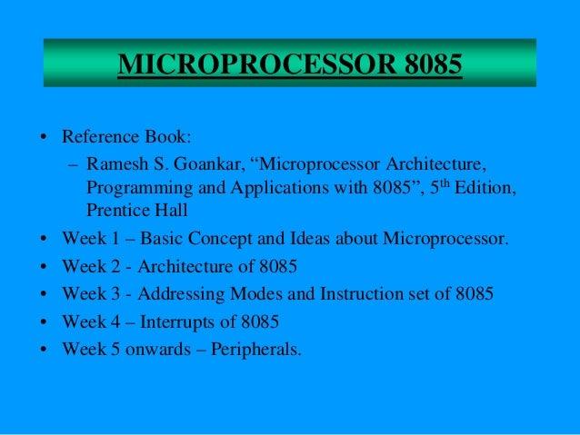 Download microprocessor 8085 ramesh gaonkar pdf.