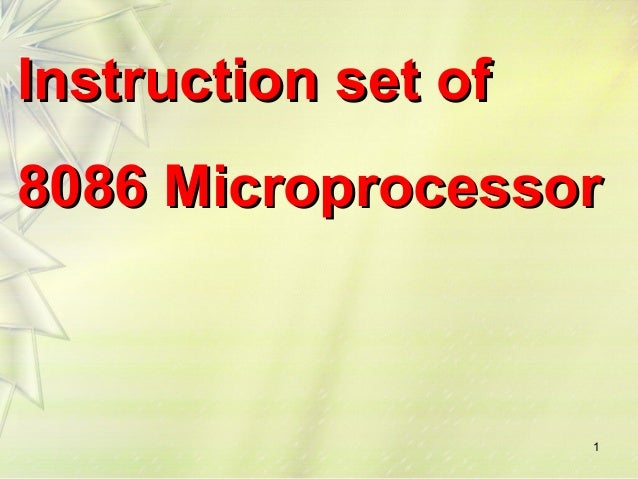 8086 Instruction Set Ppt