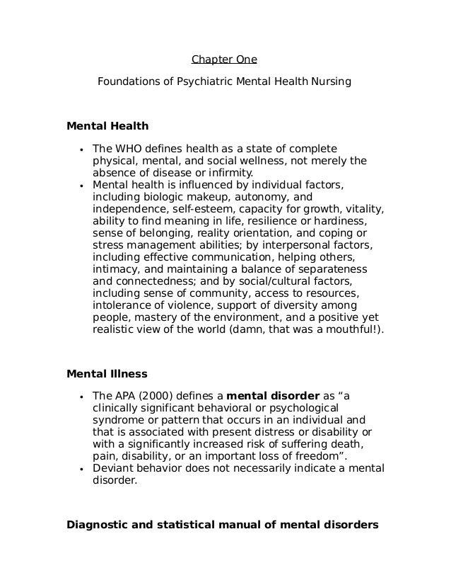 mental health progress notes